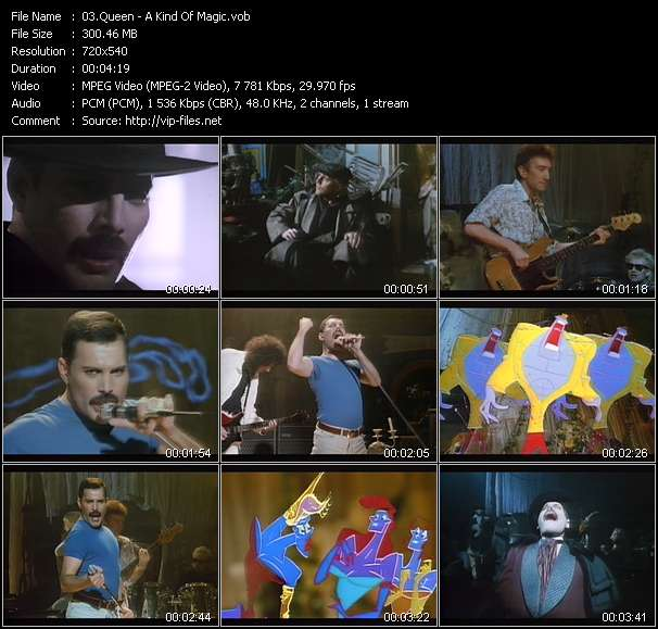 Screenshot of Music Video Queen - A Kind Of Magic