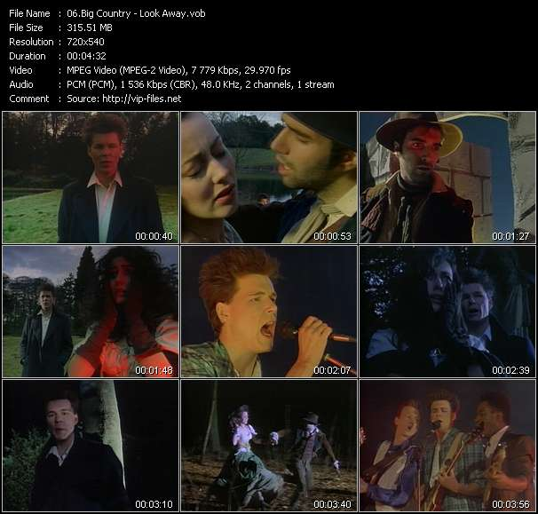 Screenshot of Music Video Big Country - Look Away