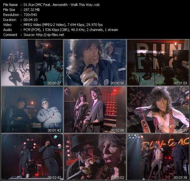 Run DMC Feat. Aerosmith clips musicaux vob