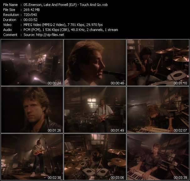 Screenshot of Music Video Emerson, Lake And Powell (ELP) - Touch And Go