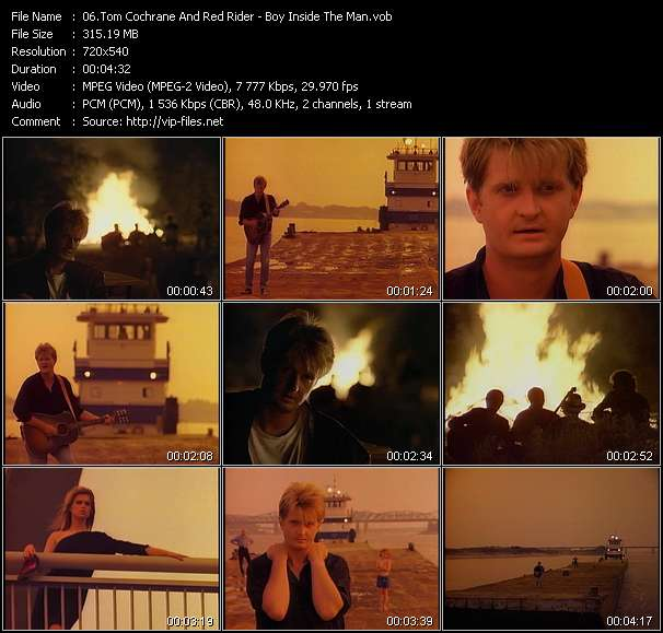 Screenshot of Music Video Tom Cochrane And Red Rider - Boy Inside The Man