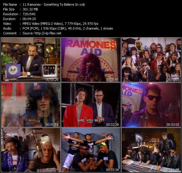 Screenshot of Music Video Ramones - Something To Believe In