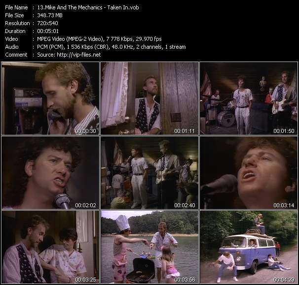 Screenshot of Music Video Mike And The Mechanics - Taken In