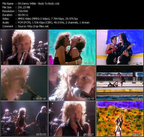 Screenshot of Music Video Danny Wilde - Body To Body
