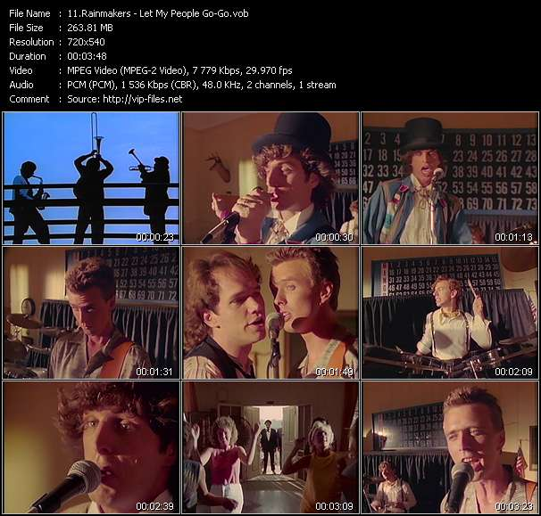 Screenshot of Music Video Rainmakers - Let My People Go-Go