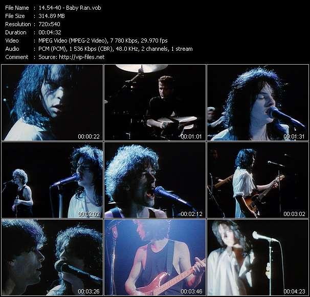 Screenshot of Music Video 54-40 - Baby Ran