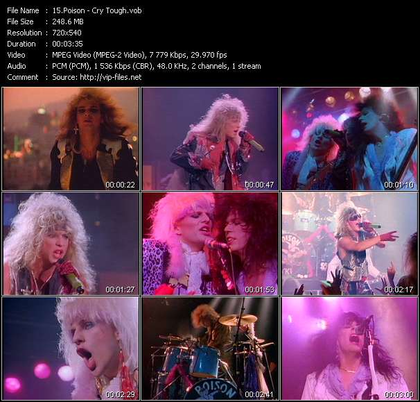 Screenshot of Music Video Poison - Cry Tough
