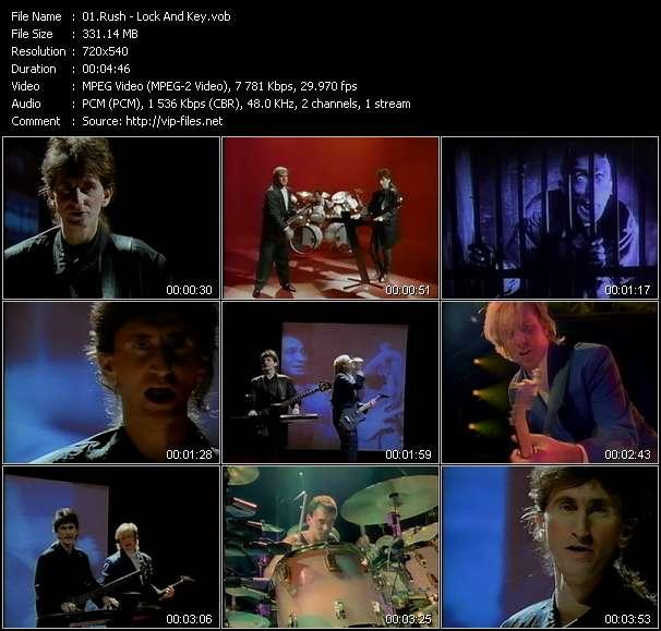 Screenshot of Music Video Rush - Lock And Key