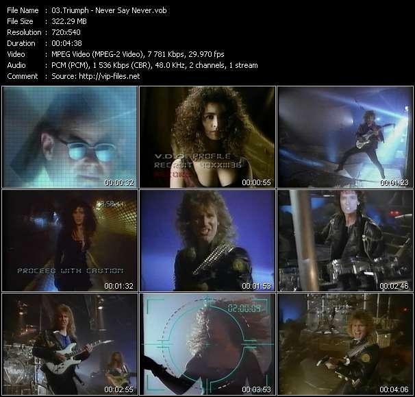Screenshot of Music Video Triumph - Never Say Never