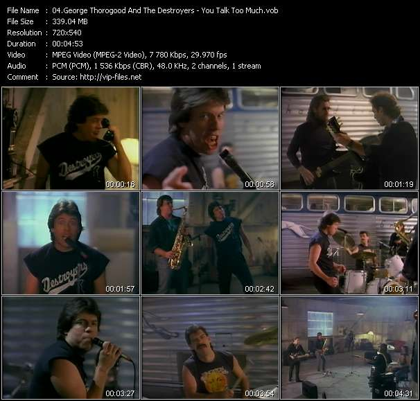 Screenshot of Music Video George Thorogood And The Destroyers - You Talk Too Much