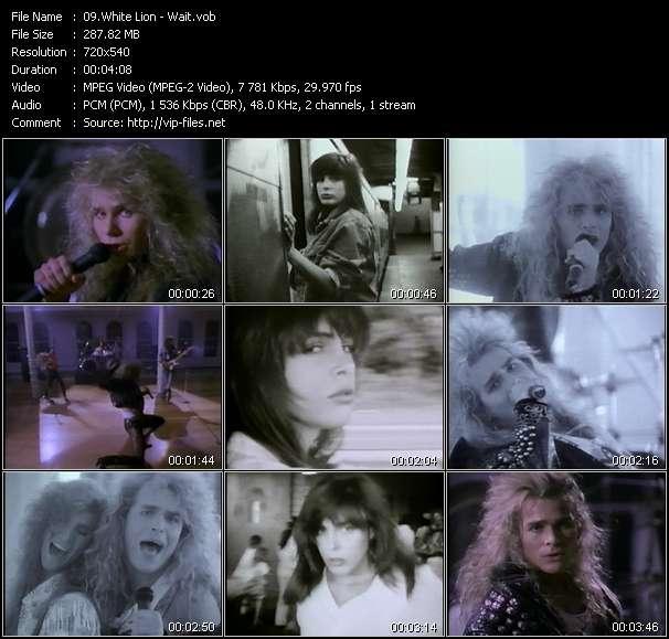 Screenshot of Music Video White Lion - Wait