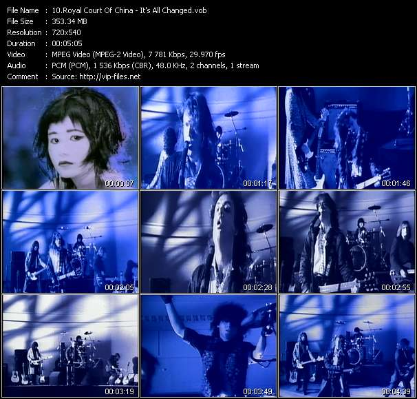 Screenshot of Music Video Royal Court Of China - It's All Changed