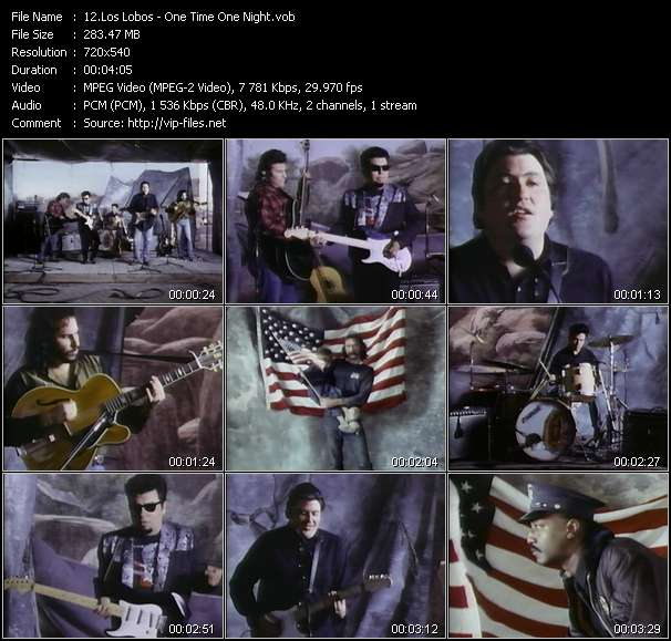 Screenshot of Music Video Los Lobos - One Time One Night