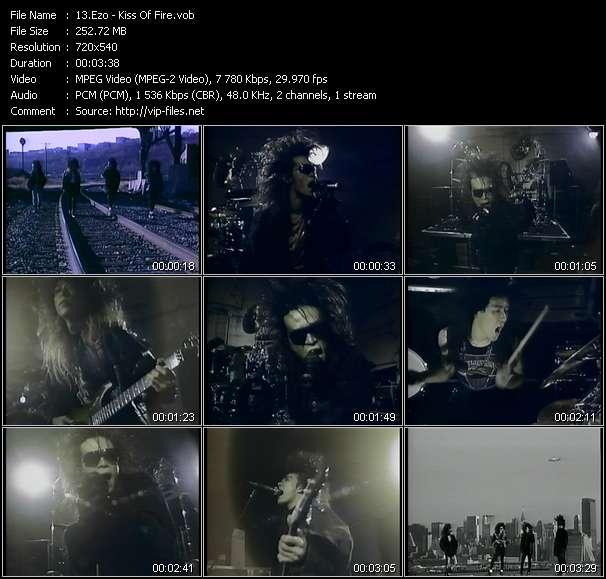 Screenshot of Music Video Ezo - Kiss Of Fire