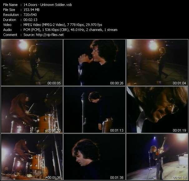 Screenshot of Music Video Doors - Unknown Soldier