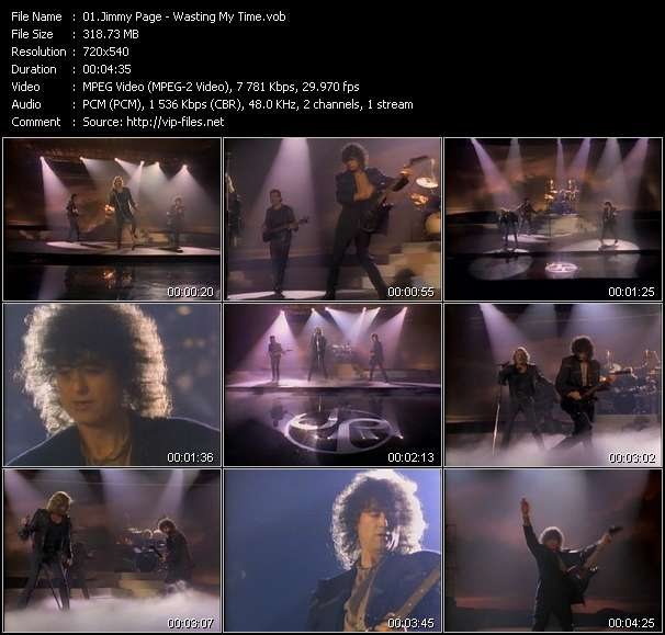 Screenshot of Music Video Jimmy Page - Wasting My Time