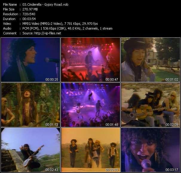 Screenshot of Music Video Cinderella - Gypsy Road