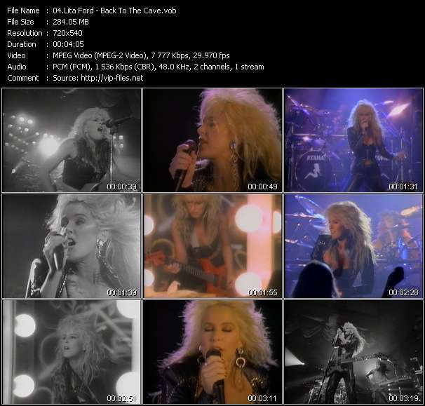Screenshot of Music Video Lita Ford - Back To The Cave