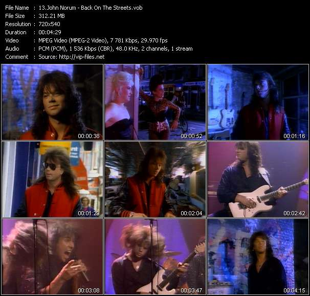 Screenshot of Music Video John Norum - Back On The Streets