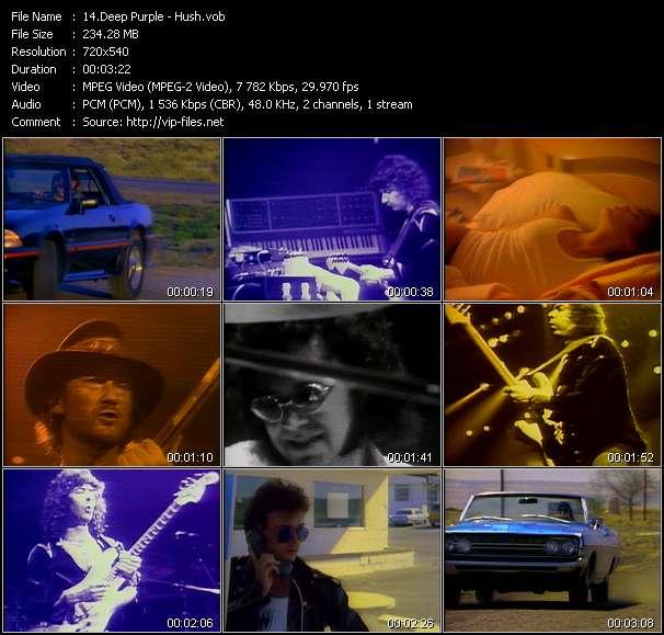 Screenshot of Music Video Deep Purple - Hush