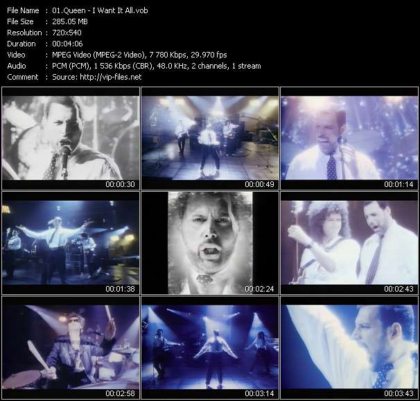 Queen video vob
