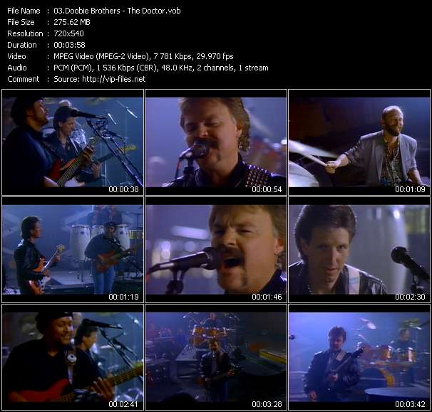 Screenshot of Music Video Doobie Brothers - The Doctor