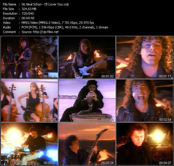 Screenshot of Music Video Neal Schon - I'll Cover You