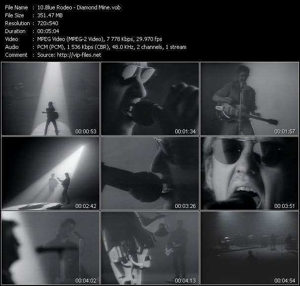 Screenshot of Music Video Blue Rodeo - Diamond Mine