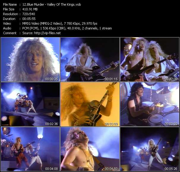 Screenshot of Music Video Blue Murder - Valley Of The Kings
