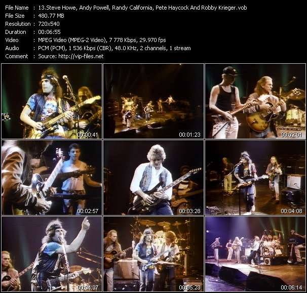 Screenshot of Music Video Steve Howe, Andy Powell, Randy California, Pete Haycock And Robby Krieger - All Along The Watchtower