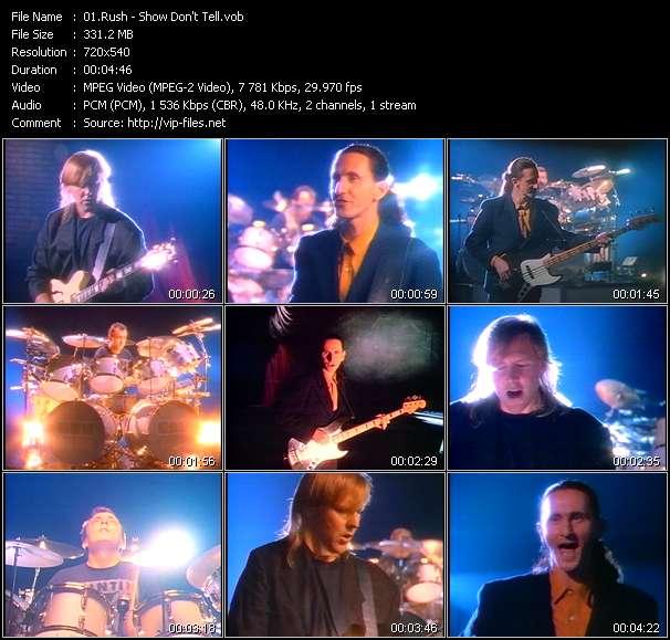 Screenshot of Music Video Rush - Show Don't Tell