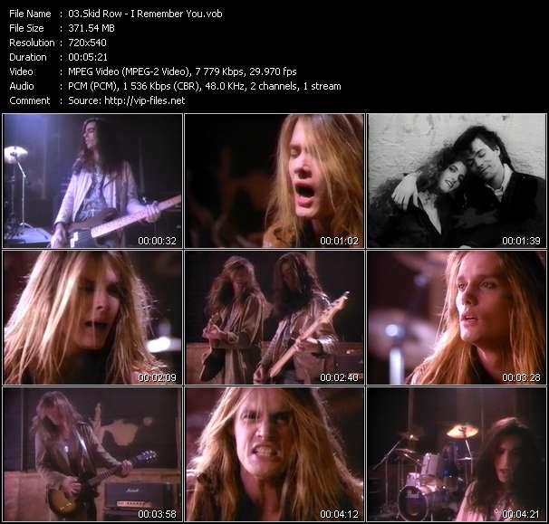 Skid Row video vob