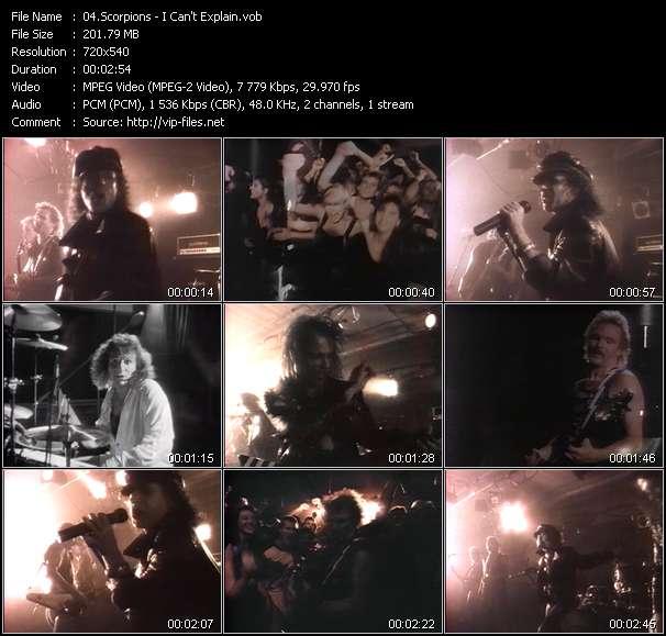 Screenshot of Music Video Scorpions - I Can't Explain