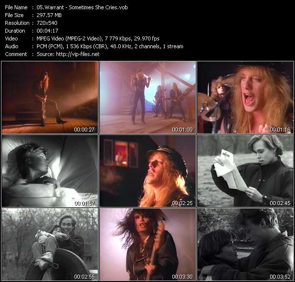 Screenshot of Music Video Warrant - Sometimes She Cries