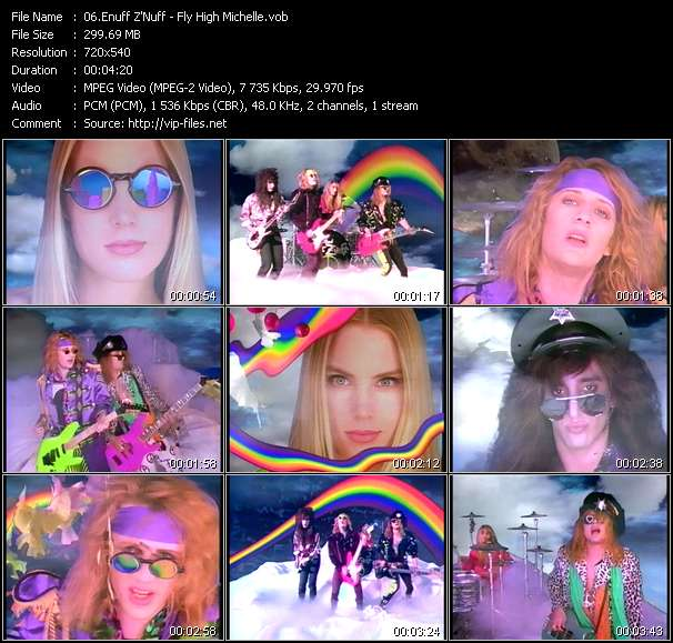 Screenshot of Music Video Enuff Z'Nuff - Fly High Michelle