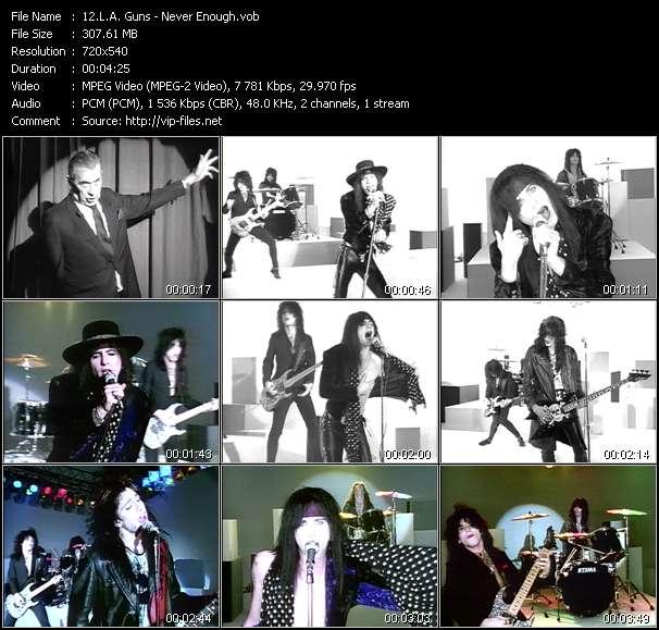 Screenshot of Music Video L.A. Guns - Never Enough
