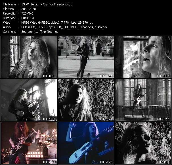 Screenshot of Music Video White Lion - Cry For Freedom