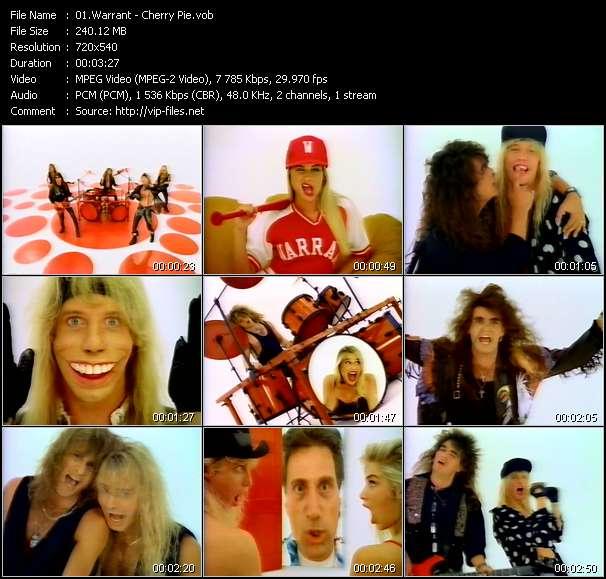 Screenshot of Music Video Warrant - Cherry Pie