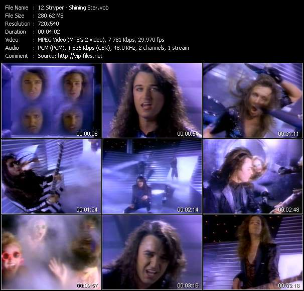 Screenshot of Music Video Stryper - Shining Star