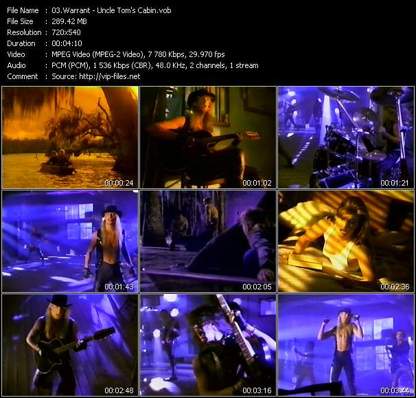 Screenshot of Music Video Warrant - Uncle Tom's Cabin