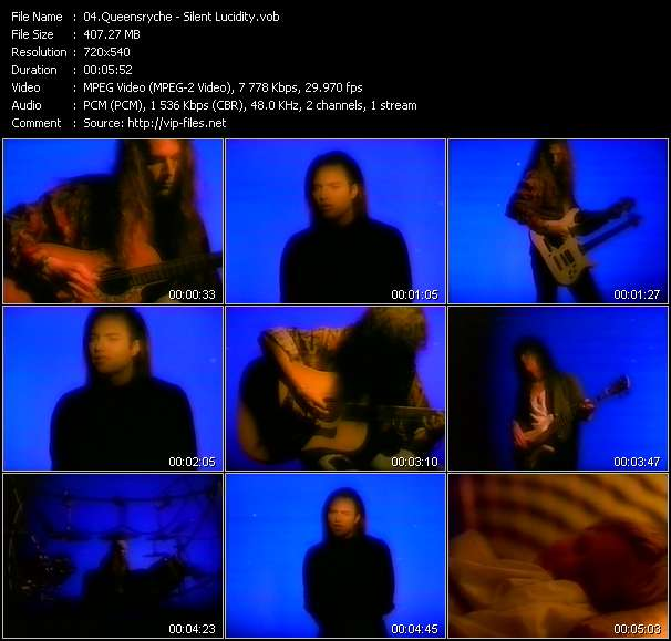 Screenshot of Music Video Queensryche - Silent Lucidity