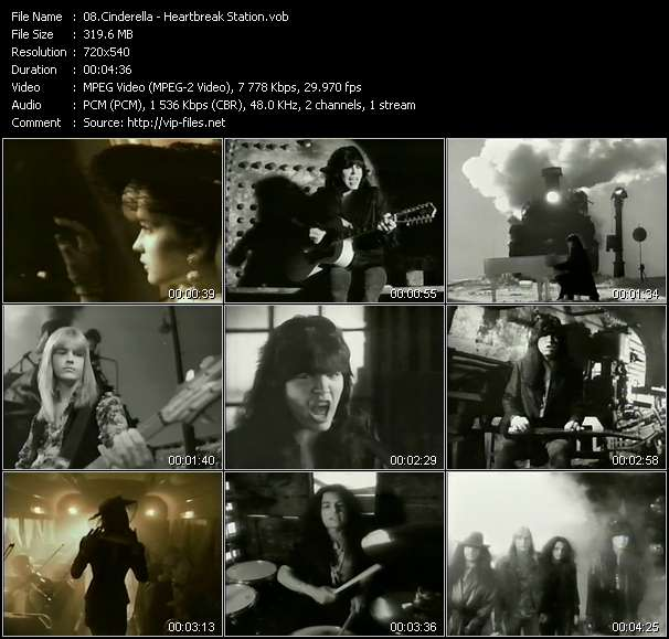 Screenshot of Music Video Cinderella - Heartbreak Station