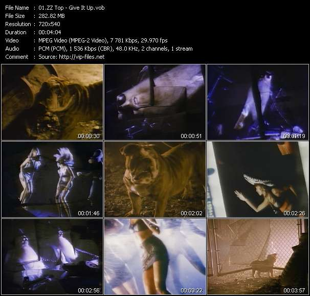 Screenshot of Music Video ZZ Top - Give It Up