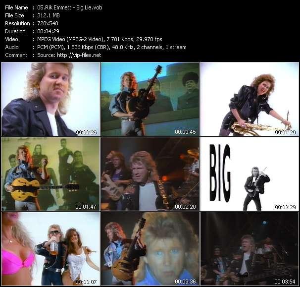 Screenshot of Music Video Rik Emmett - Big Lie