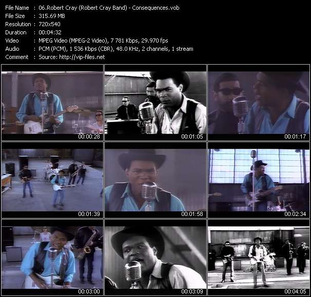Screenshot of Music Video Robert Cray (Robert Cray Band) - Consequences