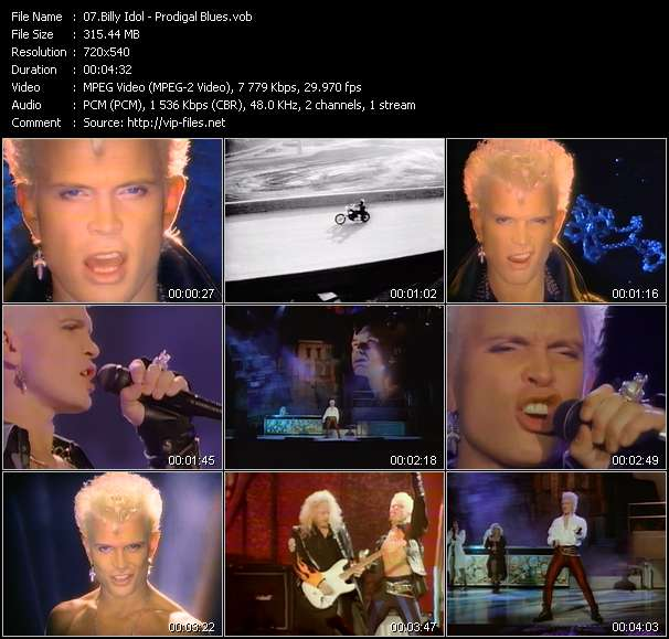 Screenshot of Music Video Billy Idol - Prodigal Blues