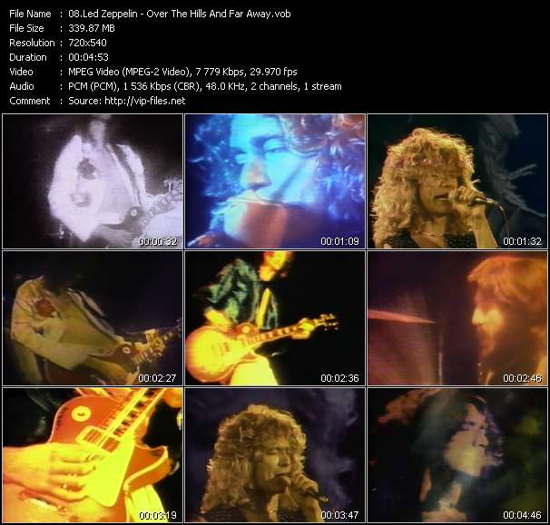 Screenshot of Music Video Led Zeppelin - Over The Hills And Far Away