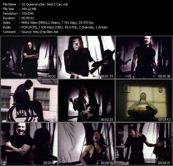 Screenshot of Music Video Queensryche - Best I Can