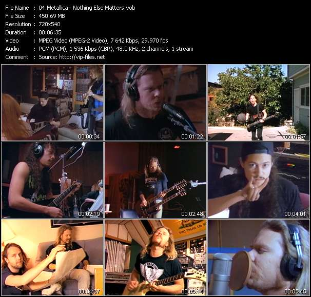 Metallica video vob