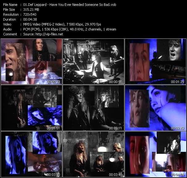Def Leppard video vob